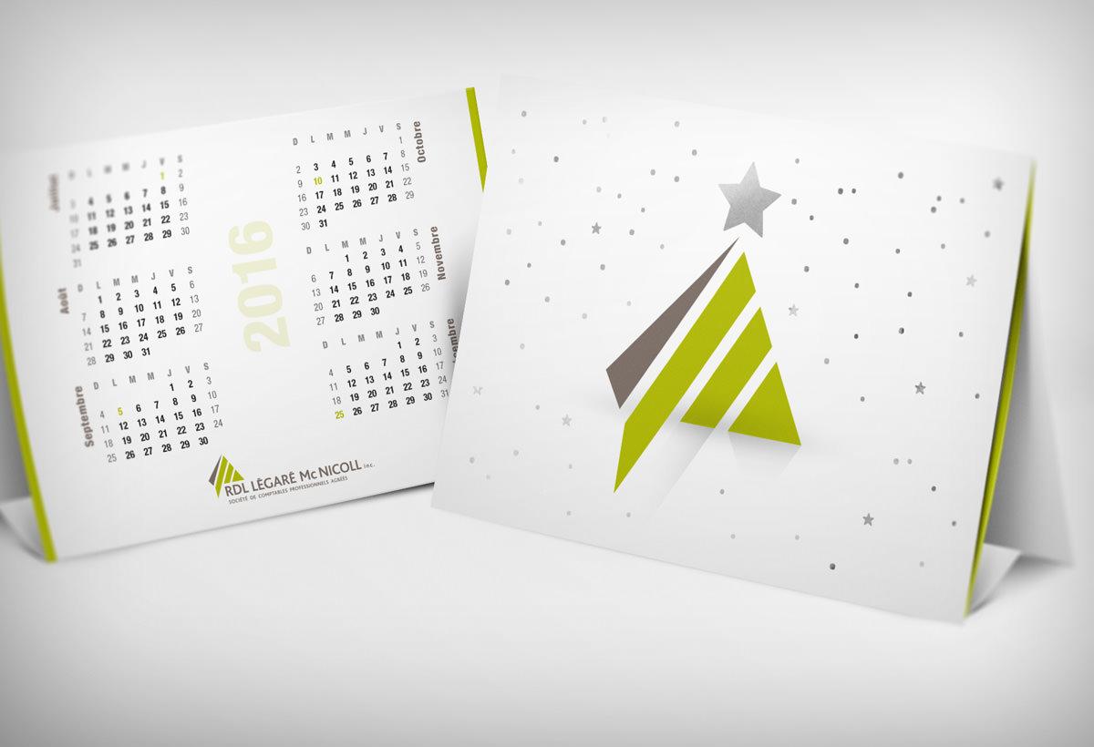Carte de Noël et calendrier Graphissimo